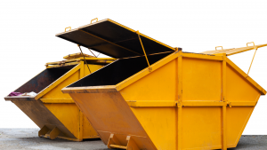 A yellow skip perfect for a private rubbish collection